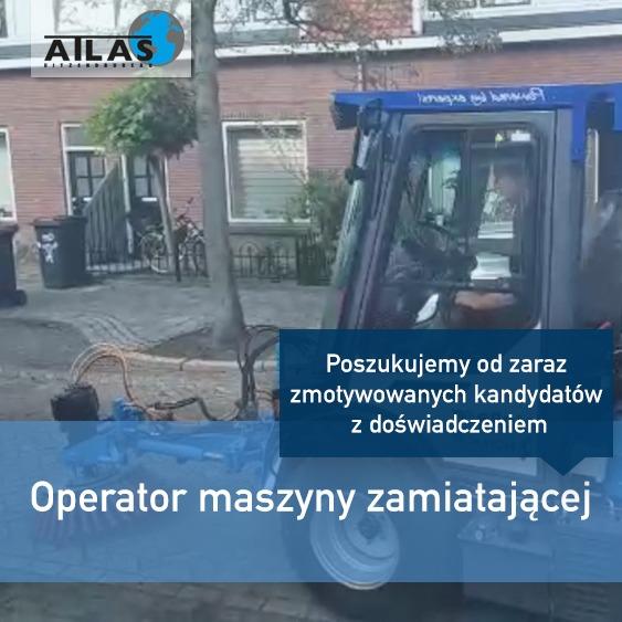 Operator maszyny zamiatajacej